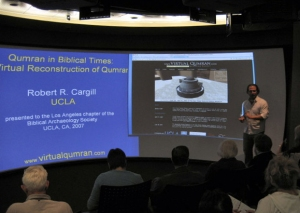 Dr. Robert R. Cargill lecturing in the UCLA Visualization Portal