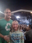 Tali at the Coldplay concert with daddy.