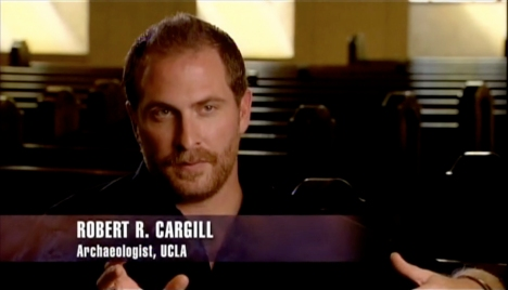 Dr. Robert R. Cargill appearing on Discovery's 'Lost Gospels.'