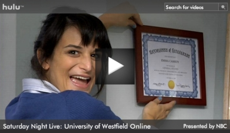"SNL ""Online University Commercial"" sketch on Hulu"