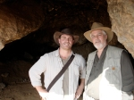 Robert Cargill and Stephen Pfann in Cave 11 near Qumran