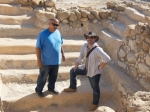 Robert Cargill and Yuval Peleg in the locus 138 miqveh (ritual bath) at Qumran.