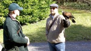 Dr. Robert R. Cargill, falconer.