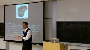 Dr. Robert R. Cargill, UCLA lectures in his class, Jerusalem, the Holy City.