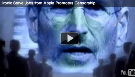 Manhattan Project ad smearing Apple CEO Steve jobs for not approving an ap that promotes 'traditional marriage' only.