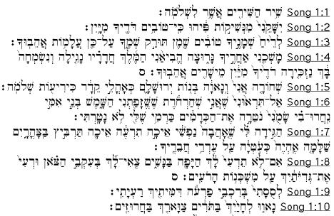 Shir HaShirim 1:1-10