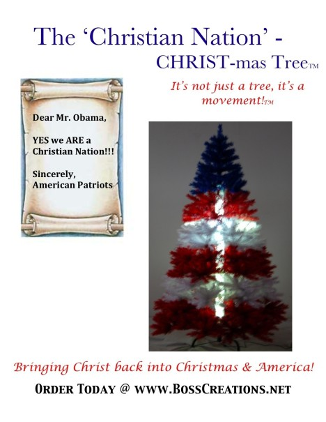 "Boss Creations ""Christian Nation"" Flier/Letter to President Obama"