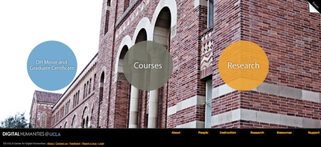The UCLA Center for Digital Humanities Website (cdh.ucla.edu)