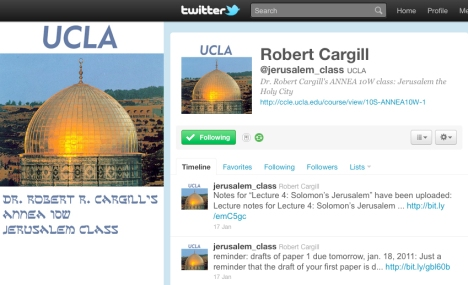Dr. Robert R. Cargill's Jerusalem Course Twitter Page