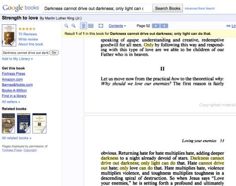 MLK 'Strength to Love' on Google Books