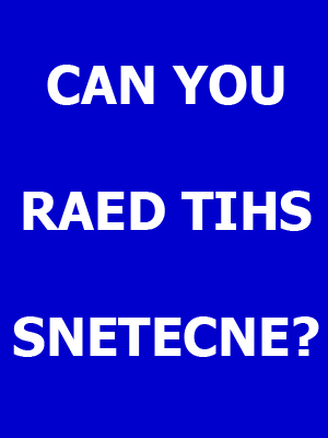 Can You Read This Sentence?