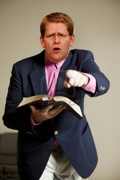 Jay Carney as angry preacher mashup