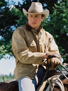In his anti-gay political ad touting his religious faith, Rick Perry sports a jacket quite similar to the one worn by Heath Ledger in Brokeback Mountain.