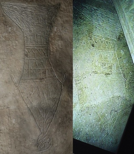 "Side-by-side comparison of Figs. 20 (left) and 21 from the Bible and Interpretation article entitled, ""A Preliminary Report of an Exploration of a Sealed 1st Century Tomb in East Talpiot, Jerusalem,"" by Dr. James Tabor on Feb 28, 2012."