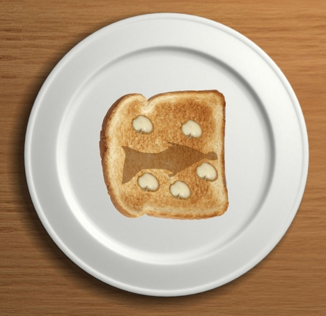 "The ""Sign of Jonah"" appears on toast."