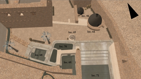 Digital reconstruction of the SE pottery annex at Qumran from 'Qumran through (Real) Time' by Robert R. Cargill.