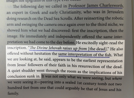 "A paragraph from page 70 of ""The Jesus Discovery"" by James D. Tabor and Simcha Jacobovici"