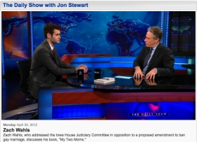 Iowa's Zach Wahls appears on THE DAILY SHOW WITH JON STEWART.