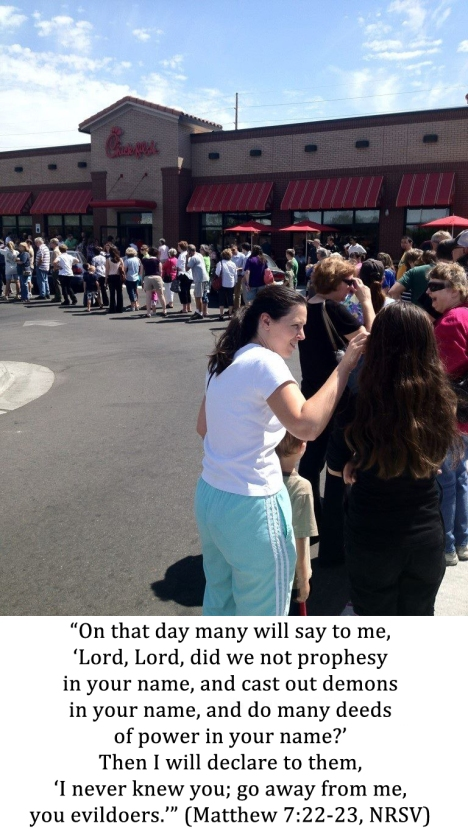 Chick-fil-A Appreciation Day Meets Matthew 7:22-23