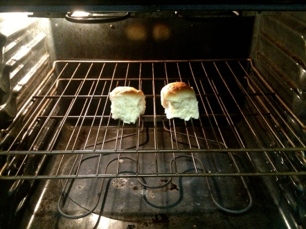 Two buns in the oven