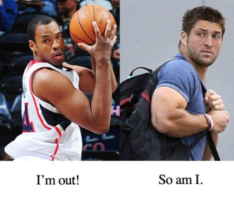 Jason Collins and Tim Tebow
