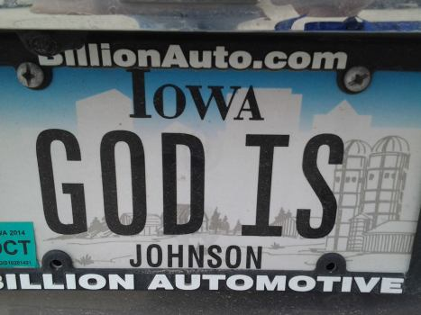 God is Johnson license plate