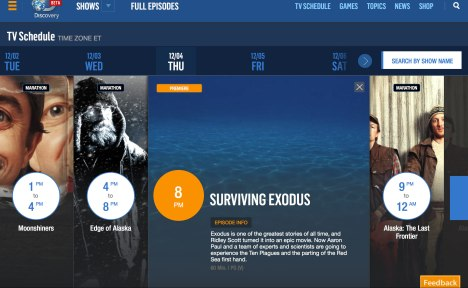 Surviving Exodus on Discovery Channel