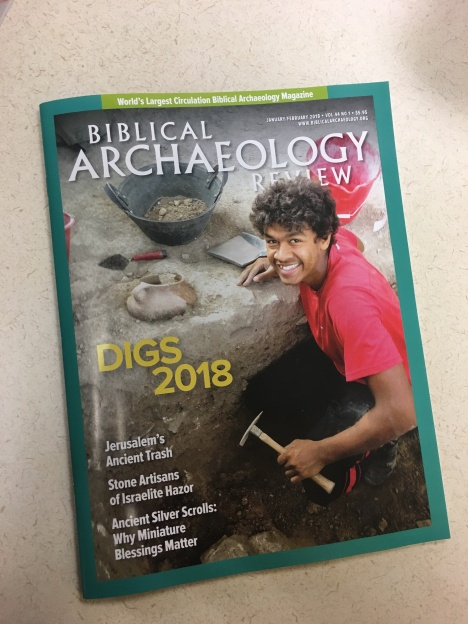 Jan/Feb 2018 Biblical Archaeology Review cover
